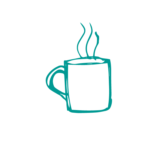 Hand drawn illustration of green mug