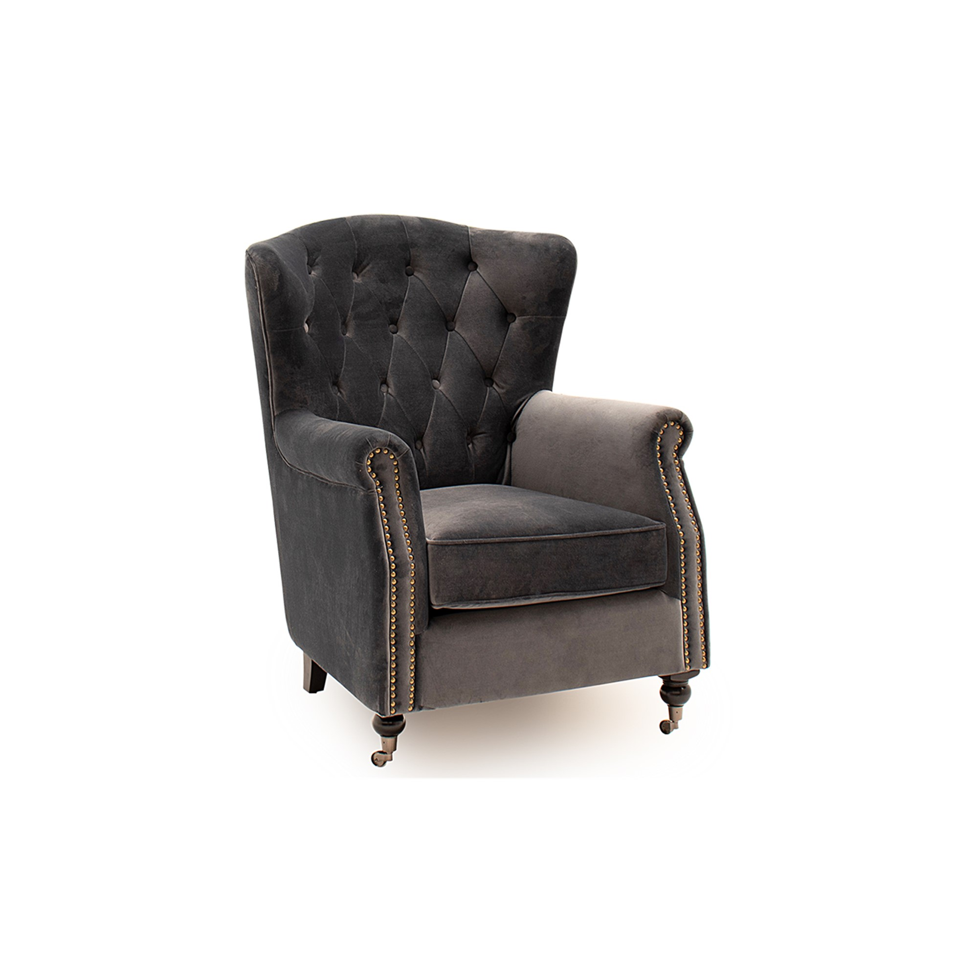 Hamlet Wingback Chair Grey
